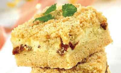 Пирог песочный с финиками